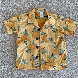 Toddler Boys Janie and Jack Pineapple Shirt 🍍